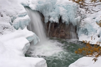 Split Rock Falls in Snow