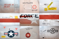 Plane Words Collage